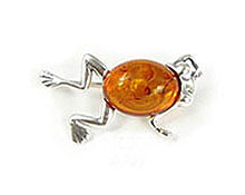 Baltic Amber & Silver Brooch Art.ASB013