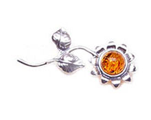Baltic Amber & Silver Brooch Art.ASB017