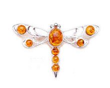 Baltic Amber & Silver Brooch Art.ASB008