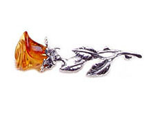 Baltic Amber & Silver Brooch Art.ASB014