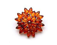 Baltic Amber & Silver Brooch Art.ASB005