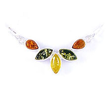 Amber & Silver Necklace Art.ASN007