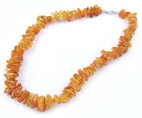 Raw Lemon Amber Necklace